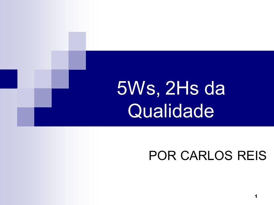 1 5Ws, 2Hs da Qualidade POR CARLOS REIS