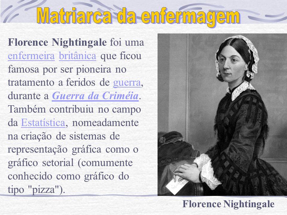 Florence Nightingale Florence Nightingale foi uma enfermeira britânica que ficou enfermeirabritânica famosa por ser pioneira no tratamento a feridos d