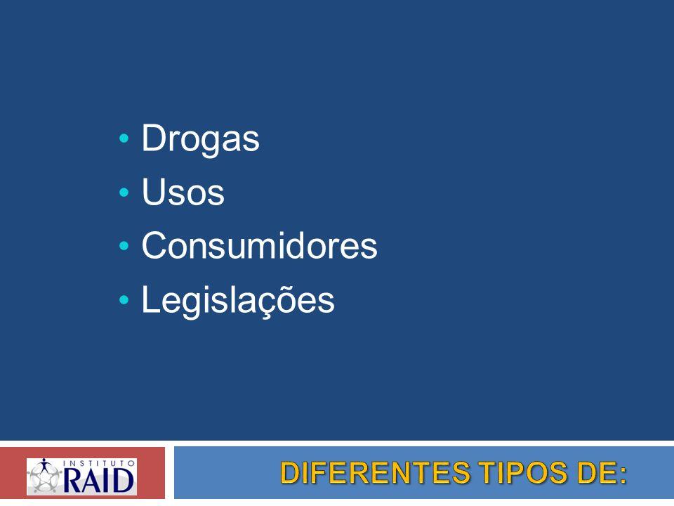 Drogas Usos Consumidores Legislações