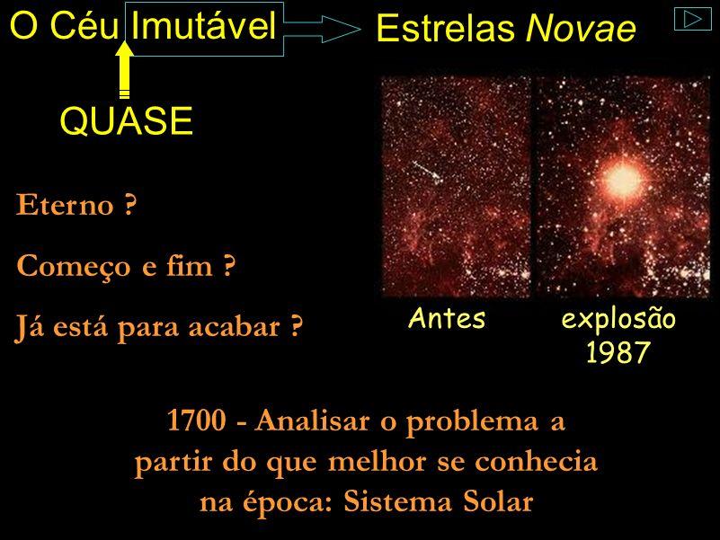 O Céu Imutável Estrelas Novae QUASE Antesexplosão 1987 Eterno .