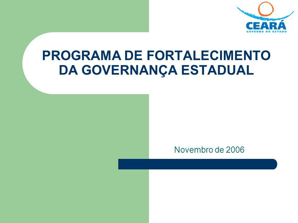 PROGRAMA DE FORTALECIMENTO DA GOVERNANÇA ESTADUAL Novembro de 2006