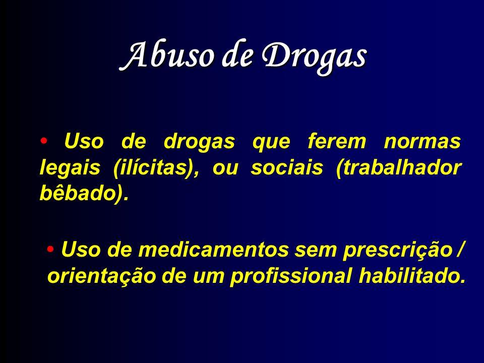 Drogas: Abuso e Dependência