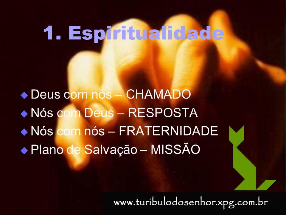 https://ministerioformacao.wordpress.com/ 1. Espiritualidade Deus com nós – CHAMADO Nós com Deus – RESPOSTA Nós com nós – FRATERNIDADE Plano de Salvaç