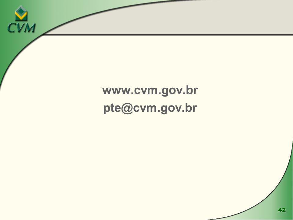 42 www.cvm.gov.br pte@cvm.gov.br