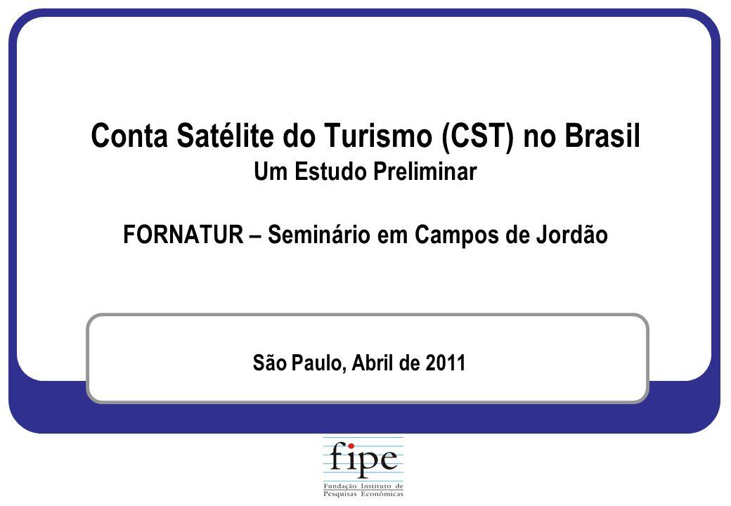 Conta Satélite do Turismo (CST) no Brasil Um Estudo Preliminar FORNATUR – Seminário em Campos de Jordão São Paulo, Abril de 2011