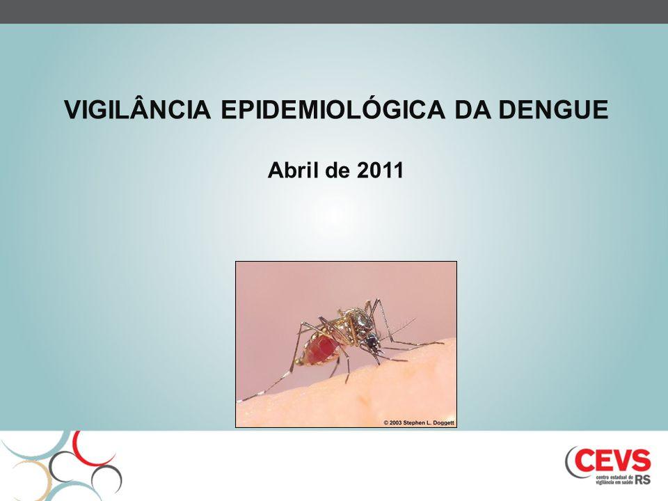Caso de dengue com complicações caso que não se enquadre nos critérios de FHD e a classificação de DC é insuficiente, dada a gravidade do quadro clínico-laboratorial apresentado: Alterações neurológicas Insuficiência hepática Disfunção cardiorrespiratória Derrames cavitários Plaquetopenia <= 50 mil/mm 3 Óbito Definições de caso