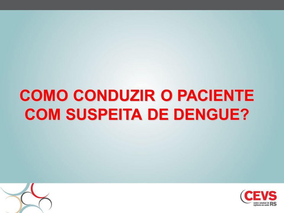 COMO CONDUZIR O PACIENTE COM SUSPEITA DE DENGUE?