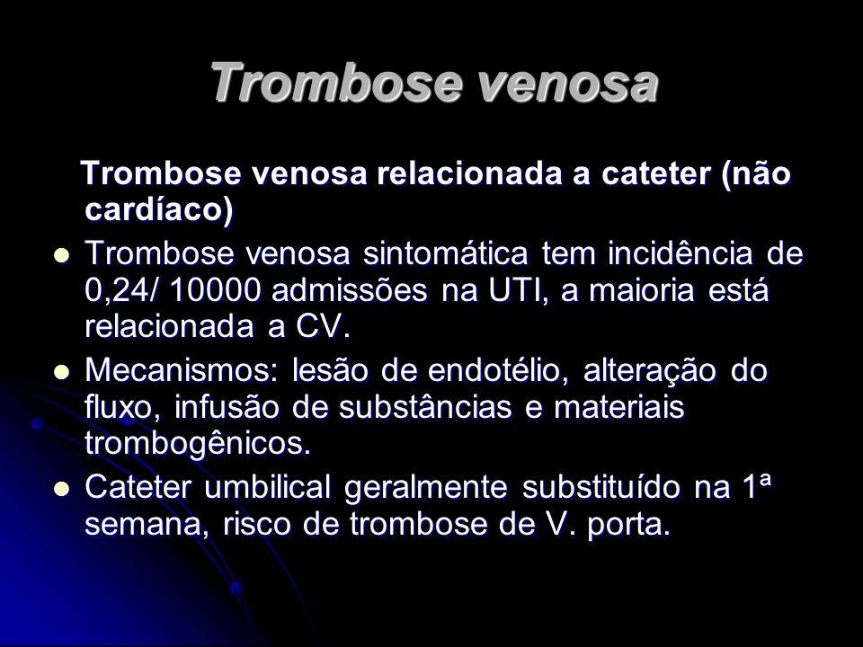Trombose venosa Trombose venosa relacionada a cateter (não cardíaco) Trombose venosa relacionada a cateter (não cardíaco) Trombose venosa sintomática