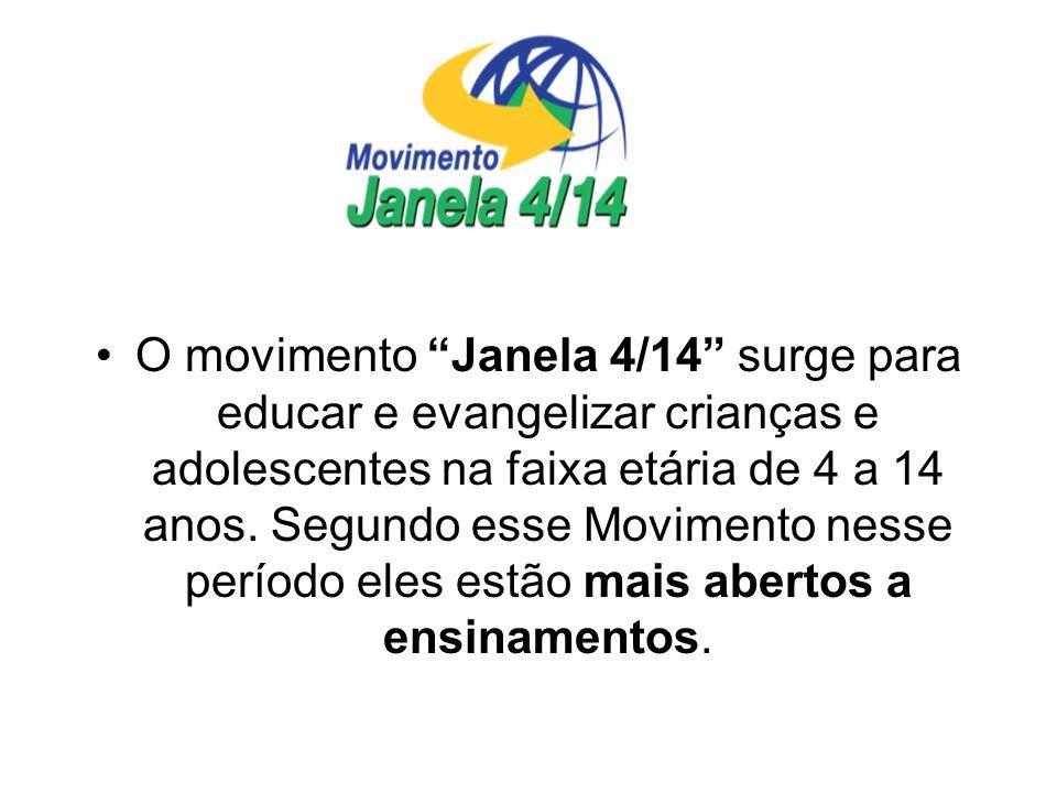 O movimento Janela 4/14 surge para educar e evangelizar crianças e adolescentes na faixa etária de 4 a 14 anos. Segundo esse Movimento nesse período e