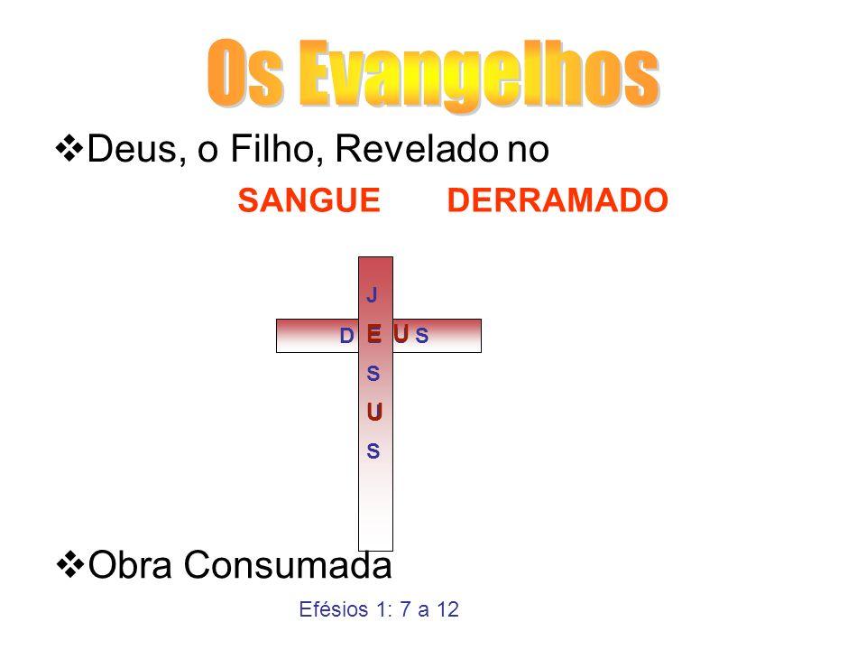 Deus, o Filho, Revelado no Obra Consumada JESUSJESUS D E U S EU U SANGUE DERRAMADO Efésios 1: 7 a 12