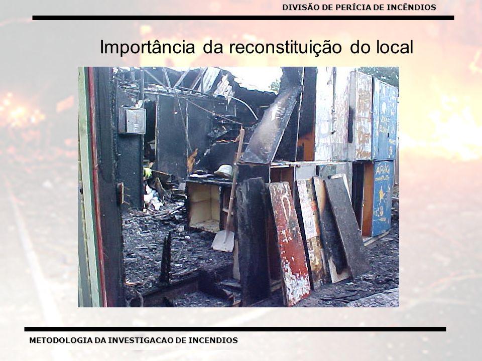 METODOLOGIA DA INVESTIGACAO DE INCENDIOS DIVISÃO DE PERICIA DE INCENDIOS METODOLOGIA DA INVESTIGACAO DE INCENDIOS Importância da reconstituição do local DIVISÃO DE PERÍCIA DE INCÊNDIOS
