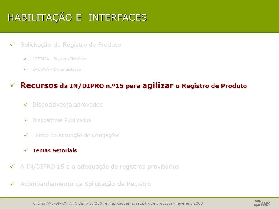 Oficina ANS/DIPRO- A IN Dipro 15/2007 e implicações no registro de produtos - Fevereiro 2008 TERMO DE ASSUNÇÃO DE OBRIGAÇÕES Em antecipação à análise