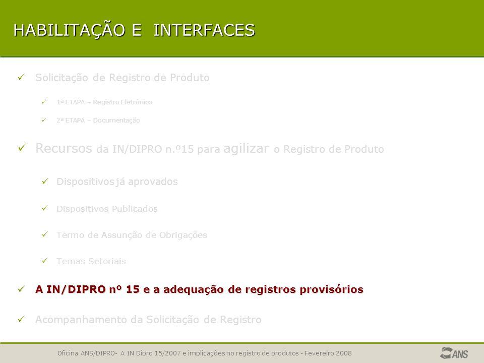 Oficina ANS/DIPRO- A IN Dipro 15/2007 e implicações no registro de produtos - Fevereiro 2008 CONCESSÃO DE REGISTRO APLICATIVORegistro por TAO Registro