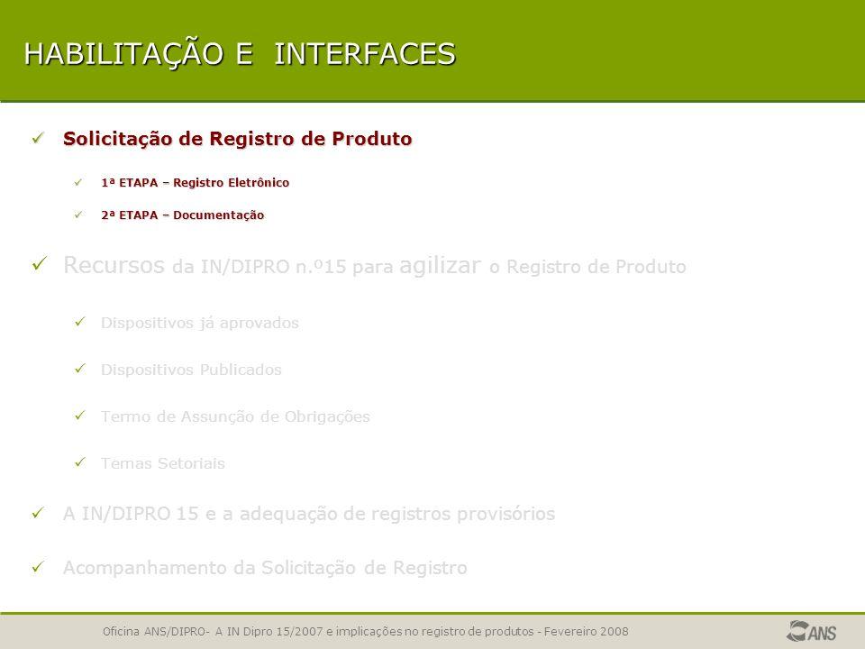 Planos de Saúde Registro e Adequação IN DIPRO 15/2007 Planos de Saúde Registro e Adequação IN DIPRO 15/2007