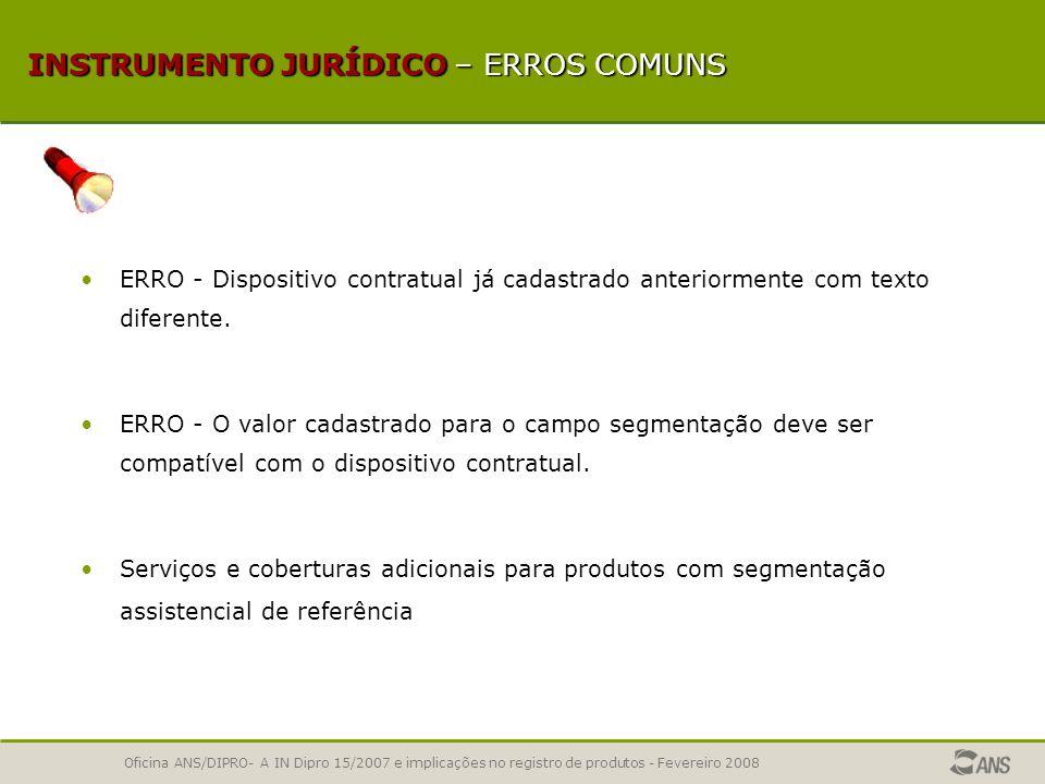 Oficina ANS/DIPRO- A IN Dipro 15/2007 e implicações no registro de produtos - Fevereiro 2008 ORIENTAÇÕES PRÁTICAS – ARPS/RPS Os dispositivos contratua