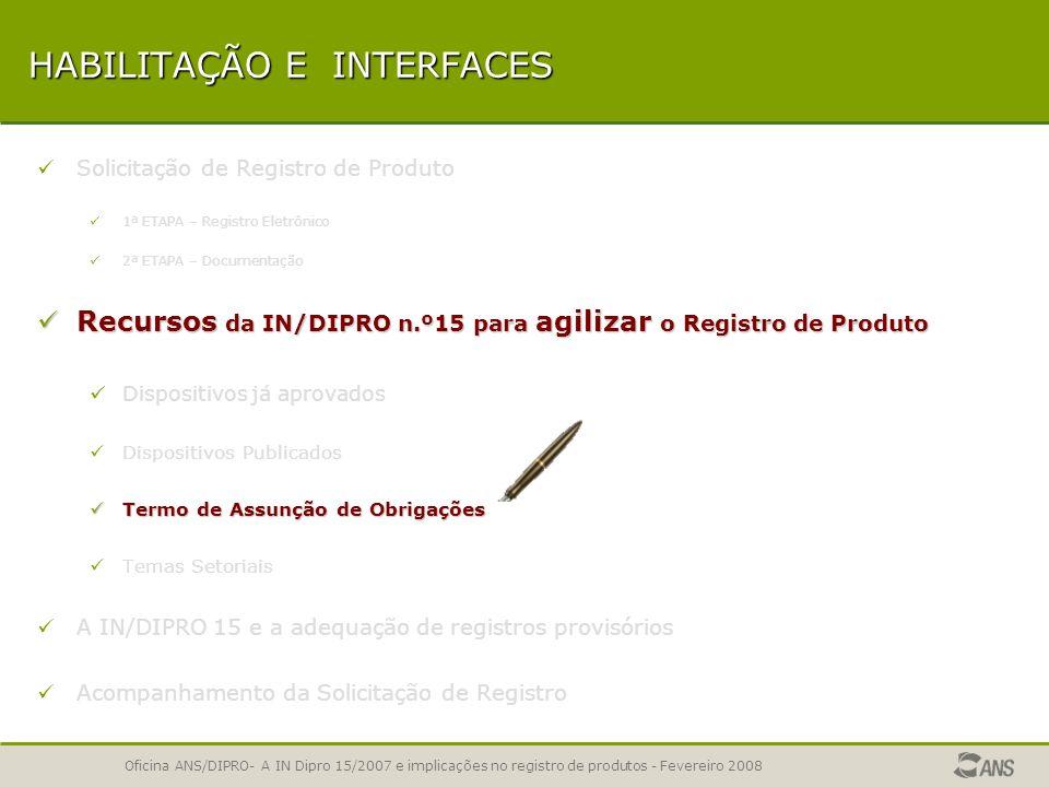 Oficina ANS/DIPRO- A IN Dipro 15/2007 e implicações no registro de produtos - Fevereiro 2008 UTILIZAÇÃO DE CLÁUSULAS DISPONIBILIZADAS PELA ANS Código