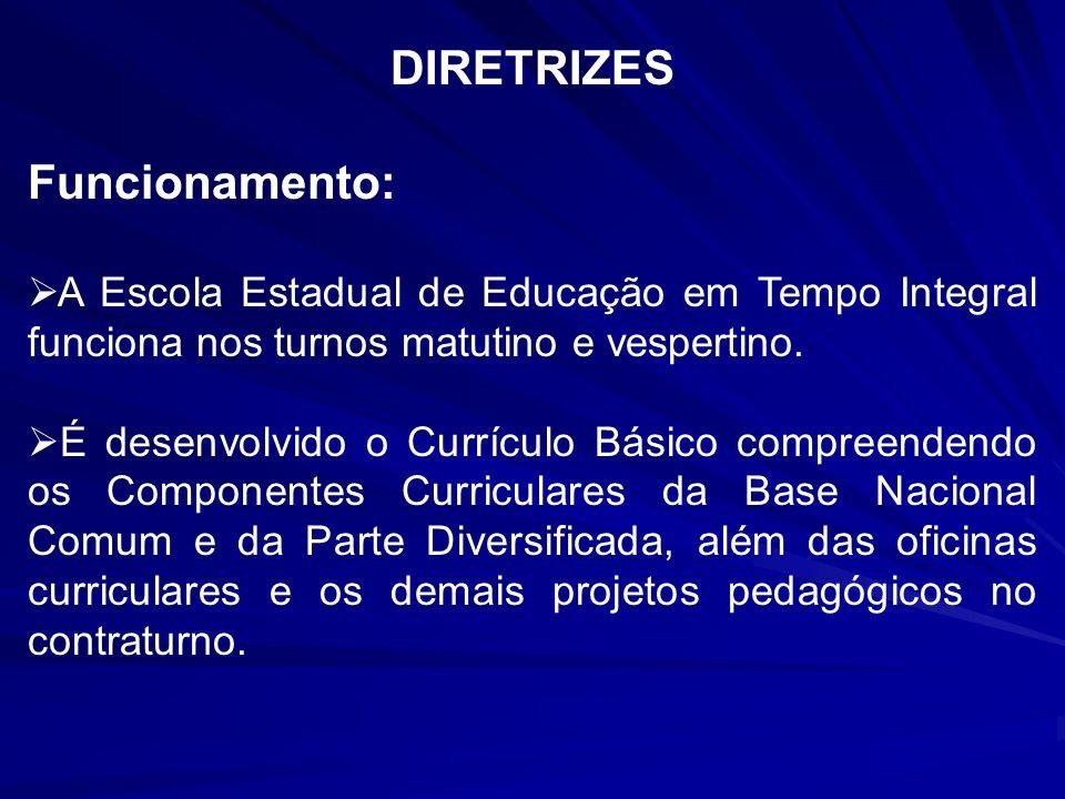 Escolas Estaduais de Educação em Tempo Integral: 1º ao 5º ano Processo de matrícula: Questionário sócio-econômico Relação das Escolas: E.