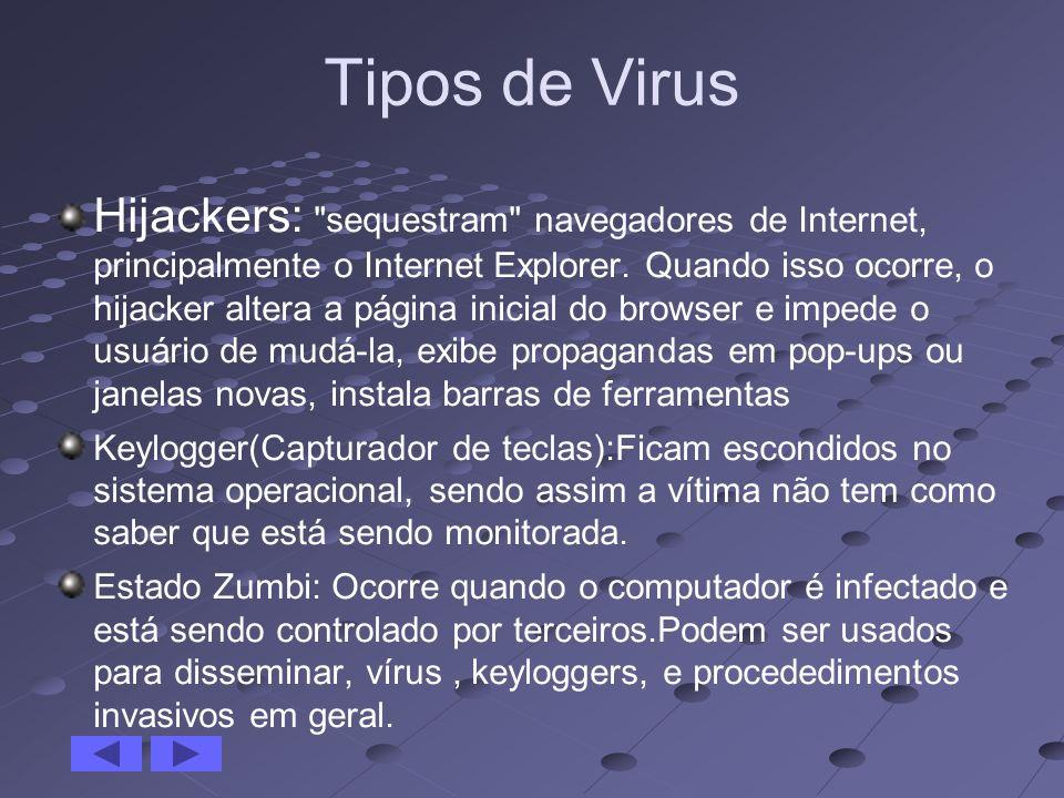 Tipos de Virus Hijackers: