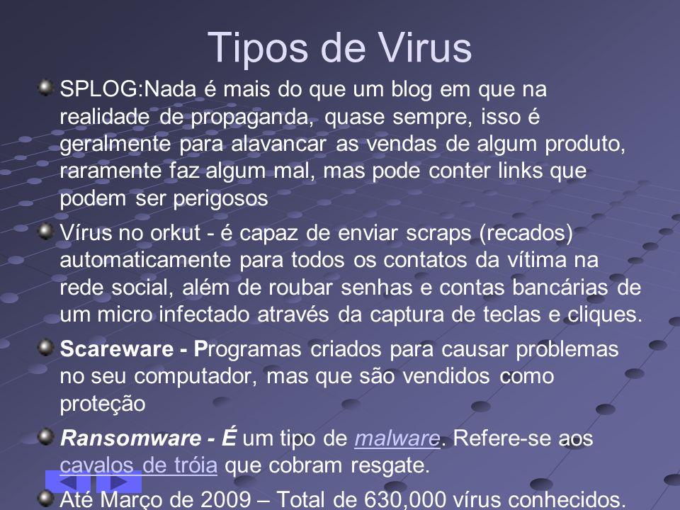 Tipos de Virus SPLOG:Nada é mais do que um blog em que na realidade de propaganda, quase sempre, isso é geralmente para alavancar as vendas de algum p