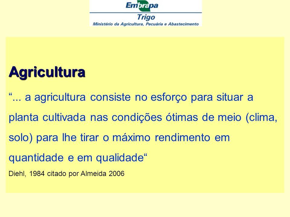 Agricultura A agricultura, como atividade do homem inserido na sociedade, só de forma imperfeita pode ser enquadrar em definições formais.