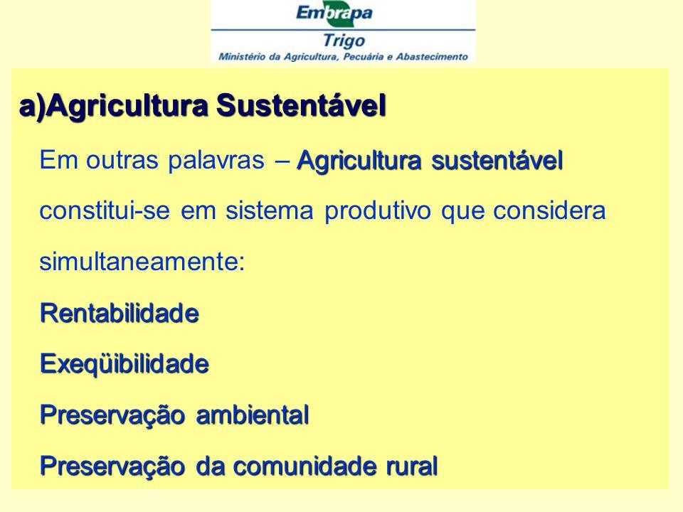 A gricultura Sustentável A gricultura Sustentável Agricultura sustentável é o manejo da base de recursos naturais e a orientação de mudanças tecnológicas e institucionais, de maneira a assegurara obtenção e a satisfação contínua das necessidades humanas para as gerações presentes e futuras.