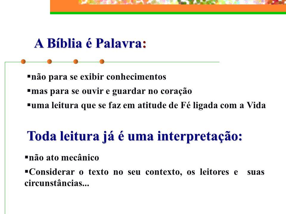 CAPÍTULO VI A Bíblia no ecumenismo e no diálogo religioso Deus não faz discriminação de pessoas.