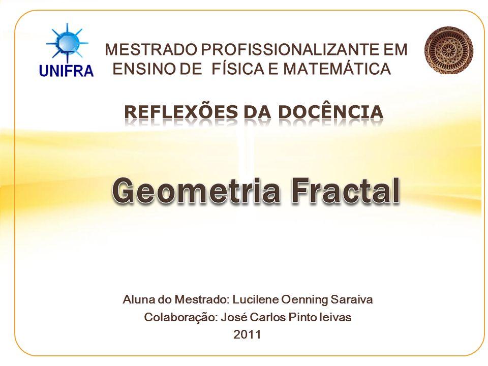 Formação da professora: Aluna cursando do Mestrado Profissionalizante em Ensino de Física e Matemática – UNIFRA, com concentração em Matemática.