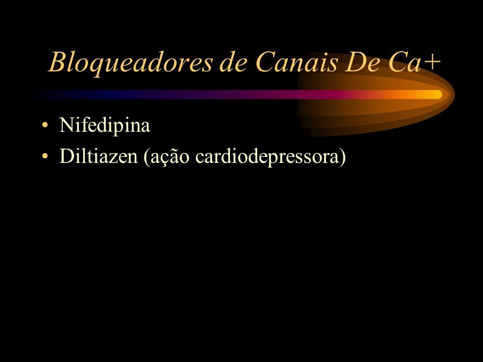Bloqueadores de Canais De Ca+ Nifedipina Diltiazen (ação cardiodepressora)