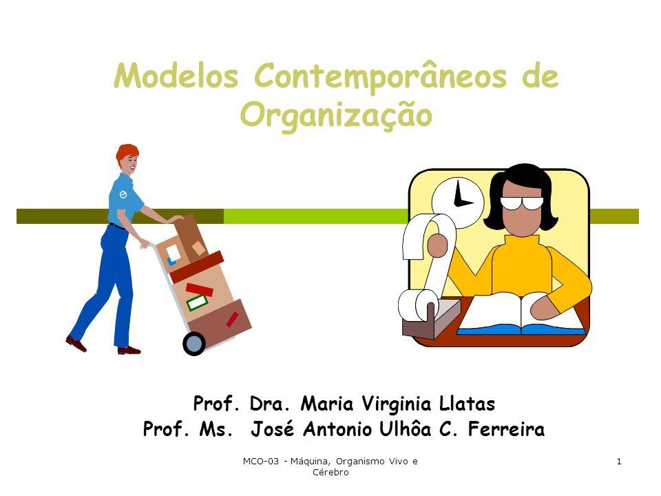 MCO-03 - Máquina, Organismo Vivo e Cérebro 1 Modelos Contemporâneos de Organização Prof.