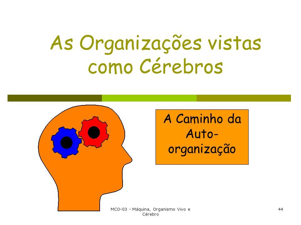 MCO-03 - Máquina, Organismo Vivo e Cérebro 44 As Organizações vistas como Cérebros A Caminho da Auto- organização