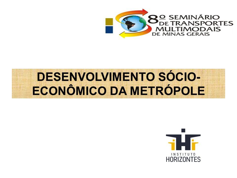 DESENVOLVIMENTO SÓCIO- ECONÔMICO DA METRÓPOLE