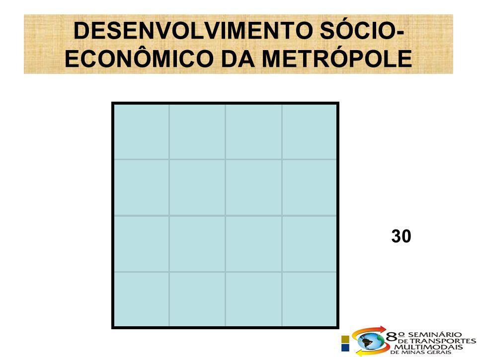 DESENVOLVIMENTO SÓCIO- ECONÔMICO DA METRÓPOLE 30
