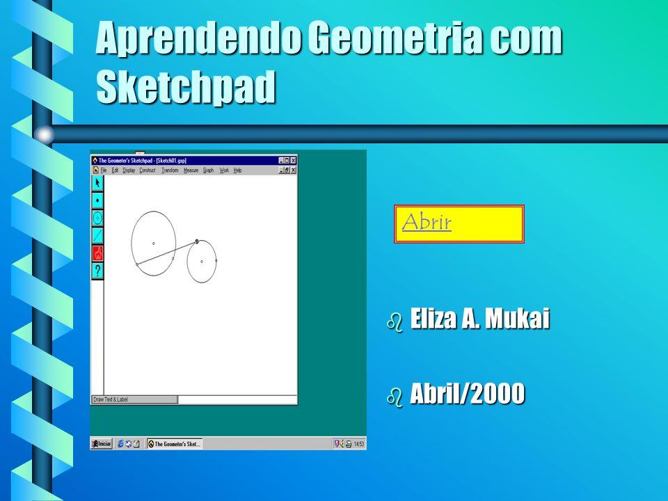 Aprendendo Geometria com Sketchpad b Eliza A. Mukai b Abril/2000 Abrir