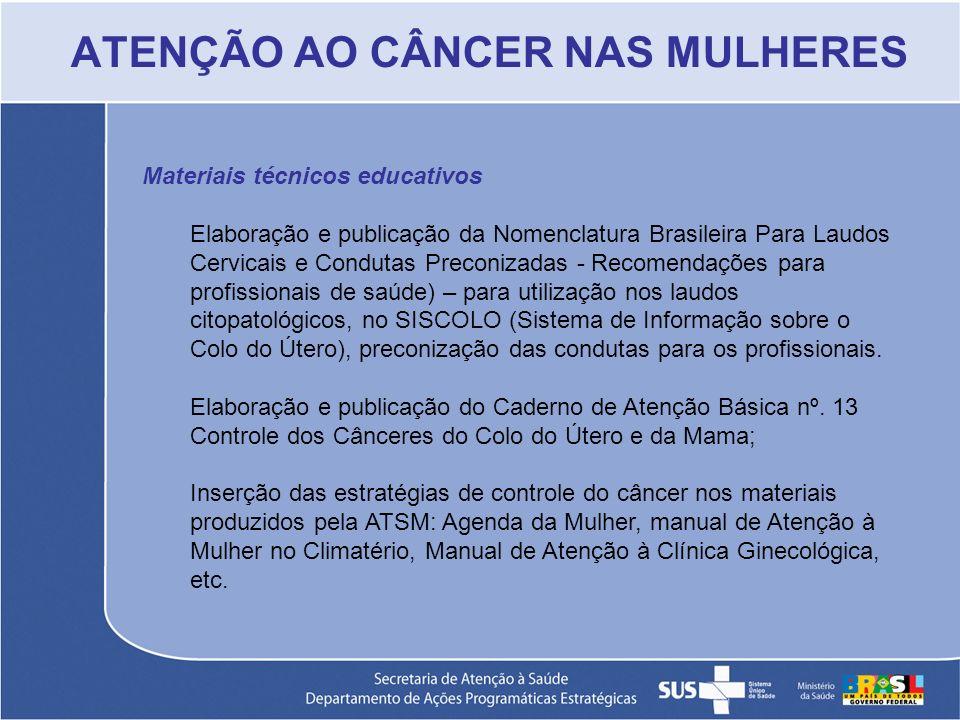 Materiais técnicos educativos Elaboração e publicação da Nomenclatura Brasileira Para Laudos Cervicais e Condutas Preconizadas - Recomendações para pr