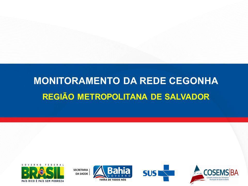 MONITORAMENTO DA REDE CEGONHA REGIÃO METROPOLITANA DE SALVADOR