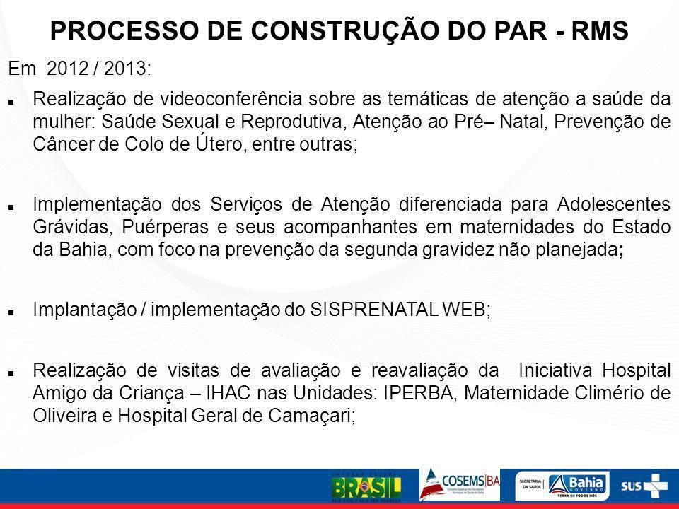 Construção do Plano de Ação 2013 para implantação das Diretrizes da RC nas maternidades – atualização do PAR 2011 PLANO DE AÇÃO REGIONAL COMPONENTE: AÇÃO:PROGRAMAÇÃO FÍSICA E FINANCEIRA: ATIVIDADE S: MUNICÍPIO OU REGIÃO: INDICADOR / META: PRAZO DE EXECUÇÃO : MEIO DE VERIFICAÇÃO: DIMENSIONAMENTO DA OFERTA/ANO: (calcular o quantitativo físico e financeiro, seguindo os parâmetros) RECURSOS FINANCEIROS: CRONOGRAMA DE DESEMBOLSO: ATIVIDADES COMPONENTE PRÉ-NATAL AÇÃO: a) realização de pré-natal na Unidade Básica de Saúde (UBS) com captação precoce da gestante e qualificação da atenção/ IMPLANTAÇÃO DAS AÇÕES DE QUALIFICAÇÃO DO PRE-NATAL – MÁXIMO 2 MESES/ IMPLANTAÇÃO DO TESTE RÁPIDO DE GRAVIDEZ – MÁXIMO 2 MESES.