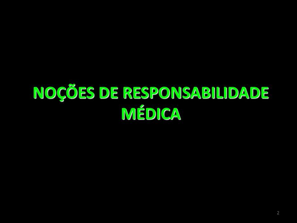 2 NOÇÕES DE RESPONSABILIDADE MÉDICA