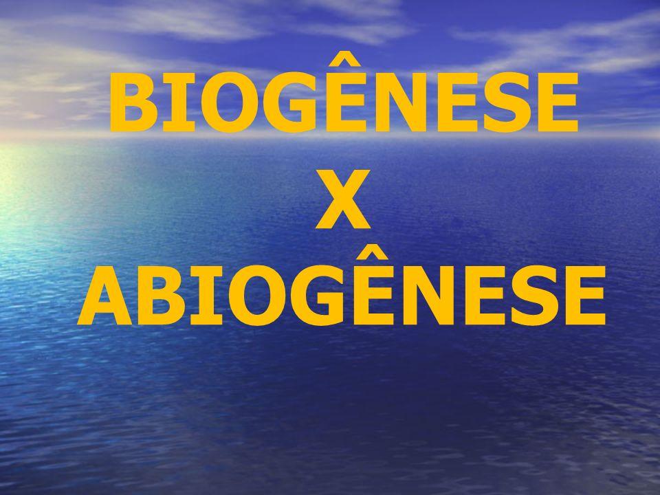 ABIOGÊNESE: Até meados do século XIX recorria-se à Teoria da Abiogênese (Geração Espontânea) para explicar a origem da vida na Terra.