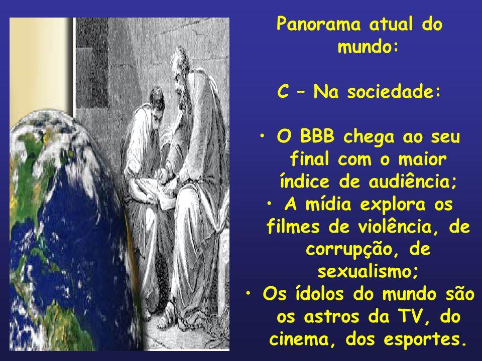 Panorama atual do mundo: D – Na religiosidade: 1.