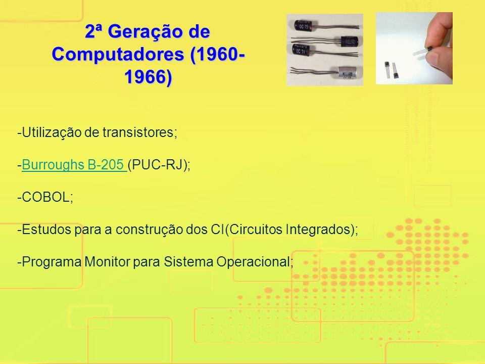 -John Von Neuman introduziu o conceito programa armazenado e uma arquitetura que influencia os computadores até hoje; -EDSAC: Computador com programaç