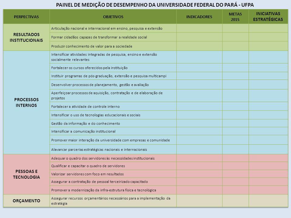 PAINEL DE MEDIÇÃO DE DESEMPENHO DA UNIVERSIDADE FEDERAL DO PARÁ - UFPA