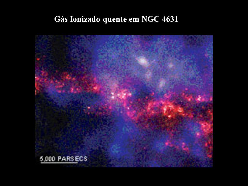 Gás Ionizado quente em NGC 4631