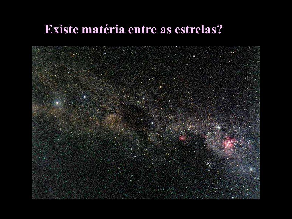 Existe matéria entre as estrelas?