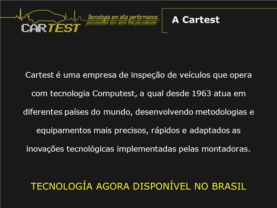 O equipamento está centralizado num banco de testes, totalmente informatizado, onde se verificam todos os parâmetros dinâmicos em condições reais de funcionamento, a velocidades de 0 até 250 km/h, conforme as necessidades.