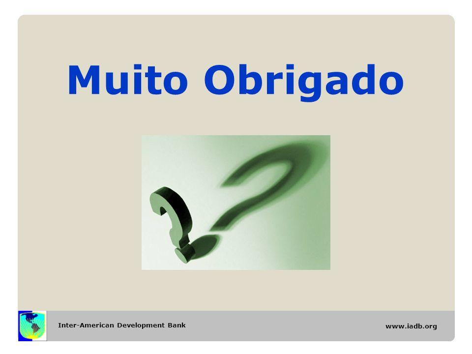 Inter-American Development Bank www.iadb.org Muito Obrigado