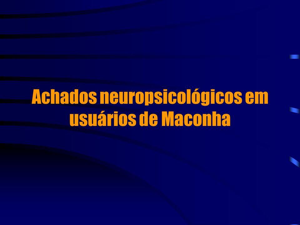 Achados neuropsicológicos em usuários de Maconha