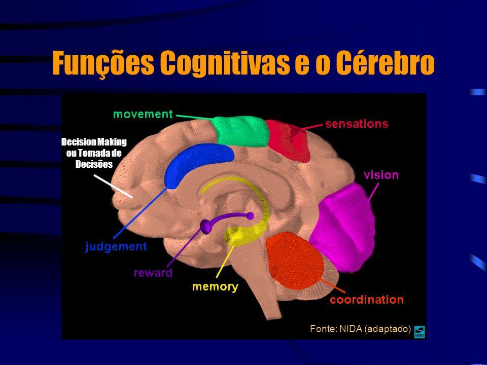 Funções Cognitivas e o Cérebro Fonte: NIDA (adaptado) Decision Making ou Tomada de Decisões