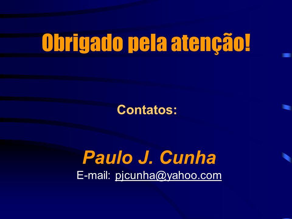 Obrigado pela atenção! Paulo J. Cunha E-mail: pjcunha@yahoo.com Contatos: