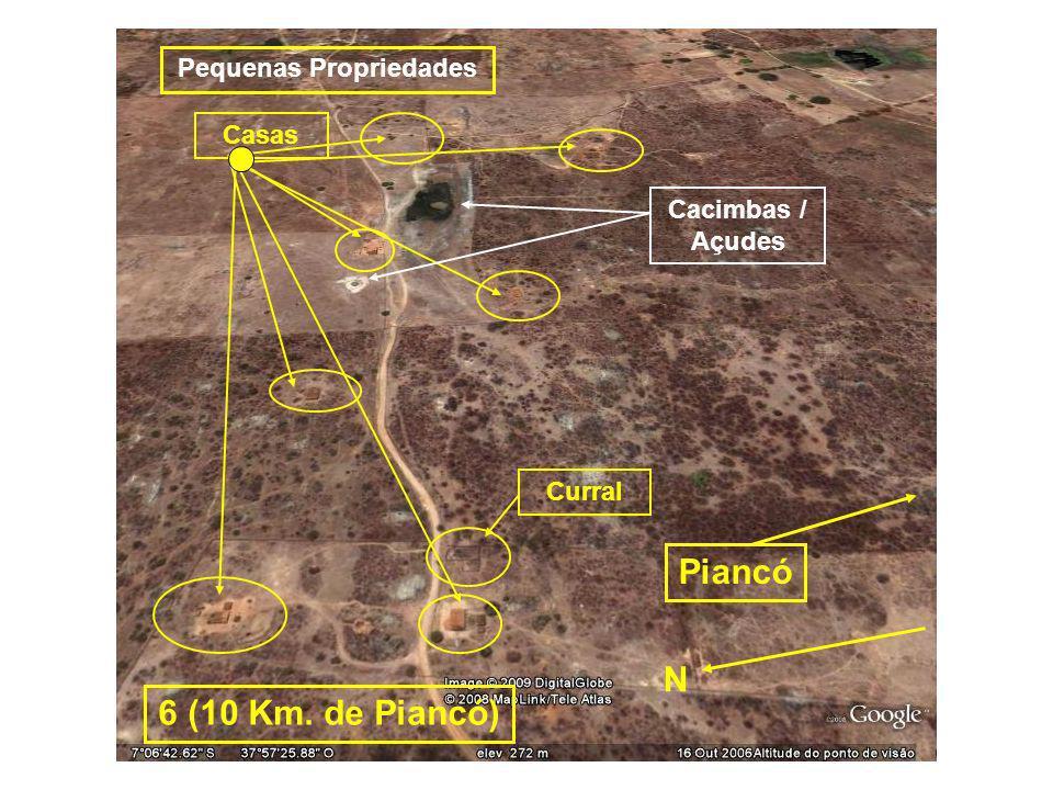 Casas Cacimbas / Açudes Curral Pequenas Propriedades 6 (10 Km. de Piancó) N Piancó