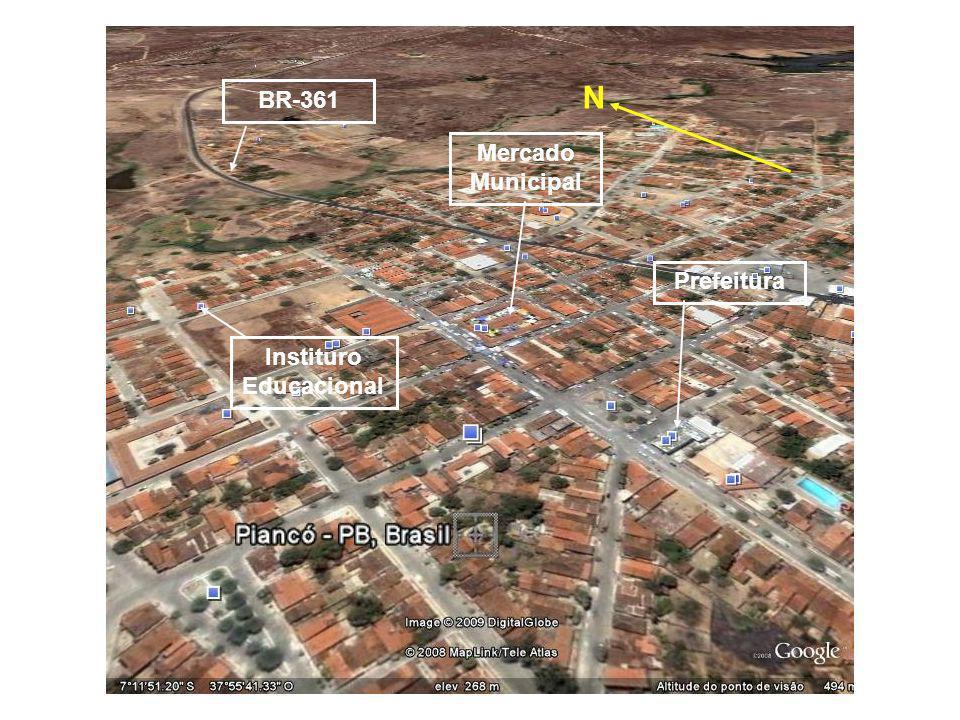 BR-361 Mercado Municipal Prefeitura Instituro Educacional N